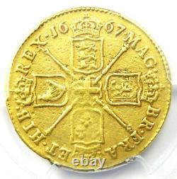 1667 Great Britain England Charles II Gold Guinea Coin PCGS VF Details Rare