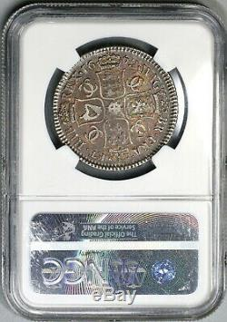 1672 NGC VF 25 Charles II Silver 1/2 Crown Rare Great Britain England 19031603C