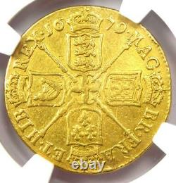 1679 Great Britain England Charles II Gold Guinea Coin NGC VF Details Rare