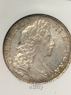 1698 Great Britain England DECIMO 1/2 C Crown Silver Coin NGC MS 62 RARE