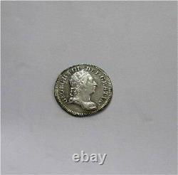 1762 GREAT BRITAIN George III Silver 3 Pence Groat Coin Moundy rare AU