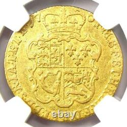 1764 Great Britain England George III Gold Guinea Coin NGC F12 Rare