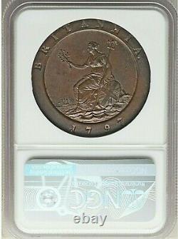 1797 Soho Great Britain George III Cartwheel 2 Pence Ngc Ms-64 Brown Rare