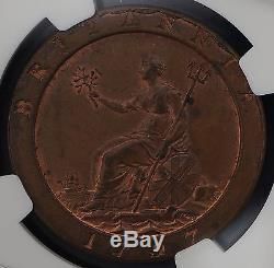 1797 UK Great Britain Penny KM# 618 Soho NGC MS 63BN Rare S. 3777