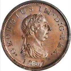 1807 Great Britain 1 Penny, NGC MS 66, S-3780, KM-663, Rare in Grade