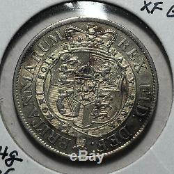 1818 Great Britain King George III 1/2 Crown Silver Coin, AU RARE Condition