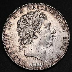1820 LX UK Great Britain Crown KM# 675 Sterling Silver George III Coin RARE