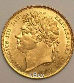 1822 GREAT BRITAIN London Sovereign Very Rare Gold Coin High Grade George IV