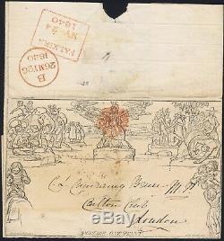 1840 1d Mulready 24 May 3rd Sunday Orange Falkirk MX to Carlton Club Rare Sunday