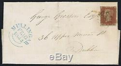 1841 1d Red Pl 13 HH RARE MULLINGAR Irish Maltese Cross Cover Cat. £20,000.00