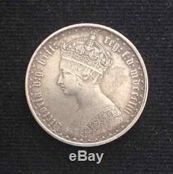 1853 Great Britain Rare Silver Gothic 1 Florin Victoria (km# 746.1)