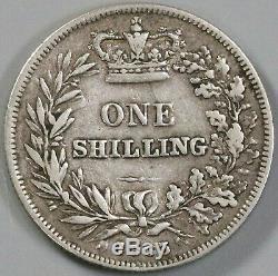 1863 Victoria Shilling Rare Great Britain Silver Coin (19070916R)