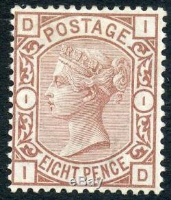 1876 8d purple-brown wmk L Garter MH Very rare. S. G. 156a