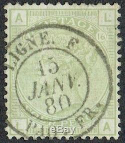 1877 4d Sage Green SG153 Pl 16 LA French'LIGNE' CDS Superb Used RARE So Fine