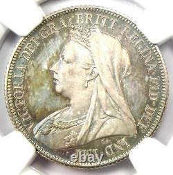 1893 Great Britain PROOF Victoria Shilling 1S NGC PR65 (PF65) Rare Grade