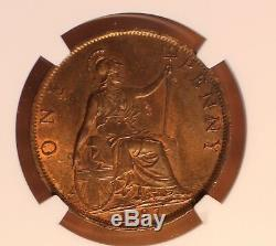 1897 Great Britain Penny Ultra Rare High Sea Level KM #790 NGC MS 62 BN