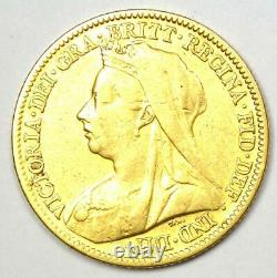 1901 Great Britain England Victoria Gold Half Sovereign UK Coin 1/2S Rare