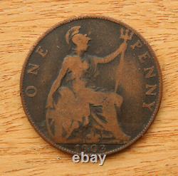 1903 open 3, Penny, Edward VII (1901-1910) Rare