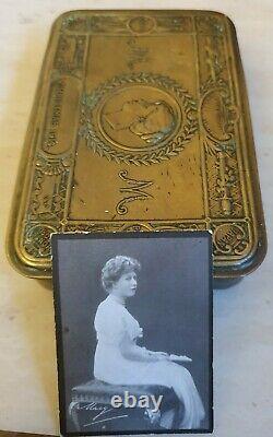 1914 Super Antique ORIGINAL Princess Mary Christmas Cigarette Tin & Photo RARE