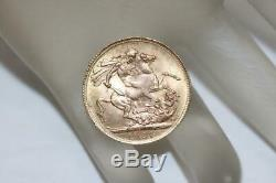 1927 George V Great Britain Full Sovereign Gold Coin. 9167 Rare Collectible VTG