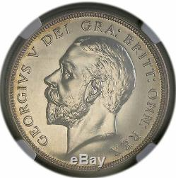 1927 UK Great Britain Silver Crown George V Proof Coin NGC PF 63 Rare 15k Minted