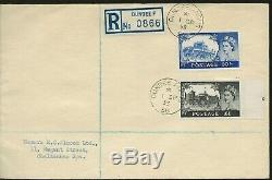 1955 2/6+ 5/- And 10/- + £1 High Value Castle Set On 2 Redg. Fdc's, Very Rare