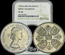 1960 Great Britain Crown British Exhibition NGC PL64 RARE A Must Have