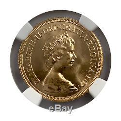 1981 Great Britain Elizabeth II Gold Sovereign Scarce Rare Grade MS67 Rare Grade