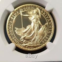 1988 Great Britain Gold 100 Pounds Britannia Ngc Pf 70 Ultra Cameo Rare Perfect