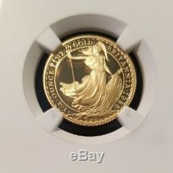 1988 Great Britain Gold 25 Pounds Britannia Ngc Pf 70 Ultra Cameo Rare Perfect