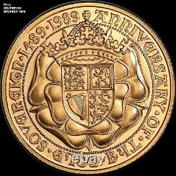 1989 Great Britain Full Sovereign Gold Coin 500th Anniversary 8 Grams Rare Type