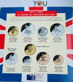 1992 1993 Royal Mint Brilliant Uncirculated Coin Year Set. With RARE EEC 50p