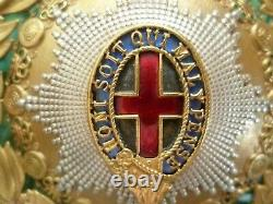 1st Life Guards Cavalry Officer's Helmet Plate Badge 125 mm ANTIQUE RARE