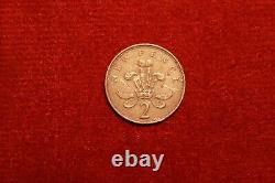 2 Extremely Rare 1971 2p New Pence Coins, in good condition
