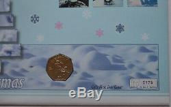 2003 Isle of Man IOM Christmas Snowman 50p Coin First Day Cover RARE 175