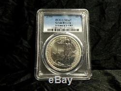 2004 BRITANNIA PCGS MS67 Silver 1 OZ GREAT BRITAIN Rare