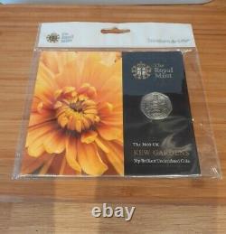 2009 Kew Gardens 50p In Sealed Royal Mint Original Hanging Pack BNUC Rare Find