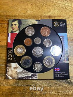 2009 UNCIRCULATED SET INCLUDING THE RARE 50p KEW GARDENS COIN
