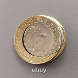 2010 Rare £2 Two Pound Error Coin Strike Collar Misaligned Error Very Rare Coin