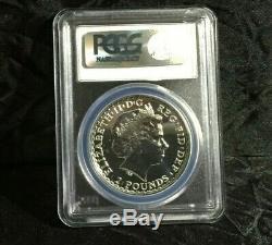 2013 PCGS MS70 Great Britain Britannia 1 oz Silver Coin UK Rare