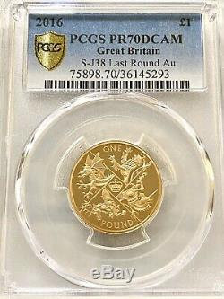 2016 Great Britain £1 The Last Round Pound Gold Proof Coin PCGS PR70DC Rare