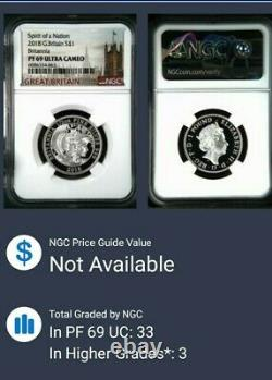 2018 1pd Great Britain Silver Proof Britannia Ngc Pf69 Rare Mintage Only 1350
