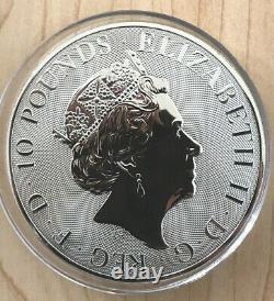 2018 Great Britain 10 oz Silver Griffin Queens Beast BU in Mint Capsule RARE