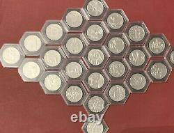 2019 A-Z Full Set 10p Coin In capsules UNC very rare