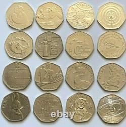 50p COINS RARE KEW GARDENS PETER RABBIT OLYMPIC BREXIT BEATRIX POTTER PADDINGTON