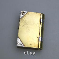 A rare antique novelty Trench Art Book Lighter C. 1914-1918