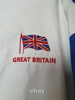 Adidas Great Britain Mens Large Jacket Coat Tracksuit Style Retro Rare Vintage