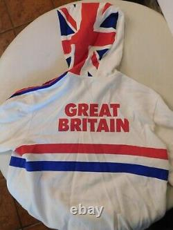 Adidas Olympics warm up track jacket Great Britain White xlarge RARE Trac2-3
