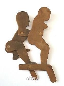 Antique/Vintage rare novalty trench art erotic couple with moving action