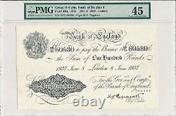 Bank of England Great Britain 100 Pounds 1937 Rare PMG 45